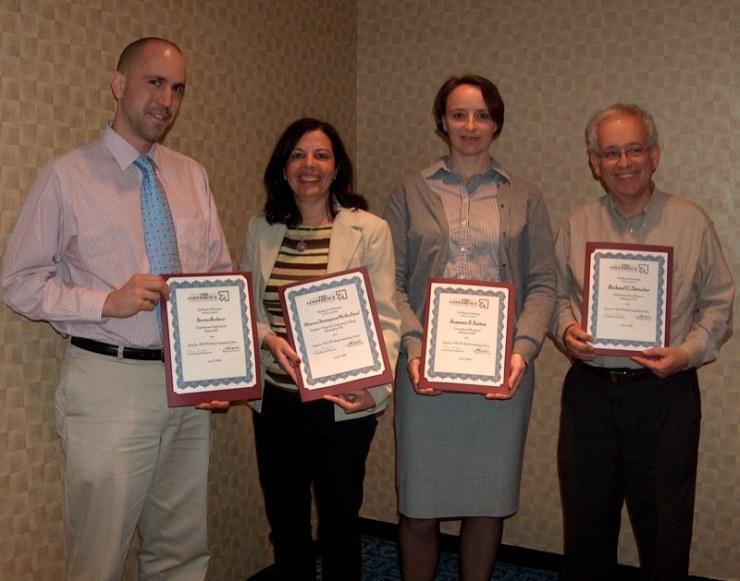 Con los otros premiados: Susanne, Steve & Dick